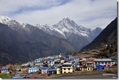 The village of Lukla sits at the beginning of the Khumbu Valley.